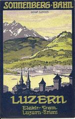 Panoramakarte von der Sonnenbergbahn