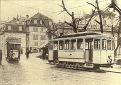 Ce 2/2 Nr. 5, Place des Ormeaux um 1900