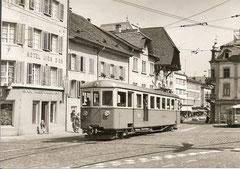 BDe 4/4 16 in Aarau-Rathausplatz