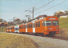 """Be 4/12 55 """"Mandarindili"""" am 25. 2. 2004 bei Vechingen"""