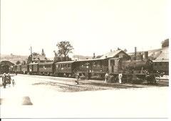 Personenzug mit Ed 3/4 12 um 1935 in Huttwil
