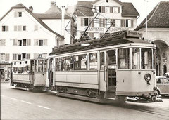 Be 2/2 2 + B2 11 in Brunnen am See am 21. 8. 1957