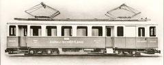 CFe 4/4 18 als erstes Fahrzeug mit blau-hellgrau-Anstrich (SWS/BBC 1937)