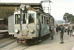 Abschiedsfahrt am 1. 10. 1964 im Güterbahnhof Schaffhausen