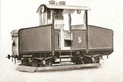 Der 1911 gelieferte 50 PS-Akku-Traktor mit offenem Führerstand