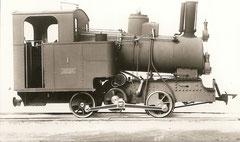 Bau und Reserve-Dampflok HG 2/2 Nr. 1 von SLM 1903, Abbruch 1921