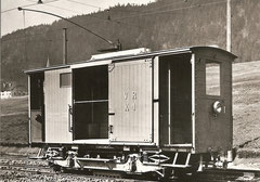 Ke 2/2 1 beim Depot Cernier um 1903