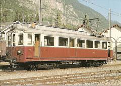 """Adhäsionstriebwagen BDe 4/4 22 und Bezeichnung """"ABD 2/4"""" am 2. 9. 1984"""