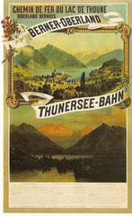 Plakat für die Thunersee-Bahn, 1893 von J. Weber