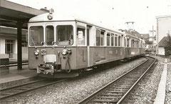 Zug von Menziken-Burg Ankunft in Aarau, September 1975