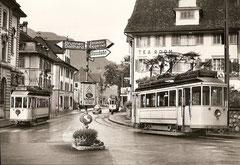 Postplatz in Schwyz am 5. 10. 1963
