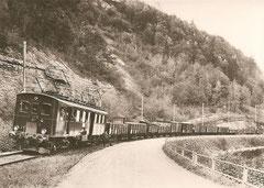 CFe 2/4 81 auf der Strecke Langnau und Sihlwald, 1924