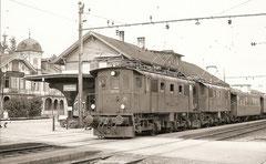 Be 4/4 108 und 106 mit Personenzug 536 am 4. 8. 1974 in Oberburg