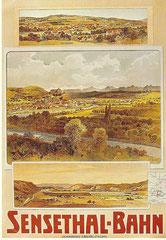 Plakat für die Sensethal-Bahn um 1900 von Anton Reckziegel