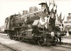 Lok 394 in Mendrisio bei der Eröffnung am 28. 6. 1926