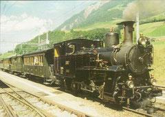 Dampfzug auf der Strecke Interlaken - Grindelwald