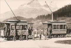 Tram Nr. 3 + 4 um 1896