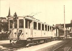 BWB_personenzug  mit Ce 2/4 42 + K von 1898 als Gepackwagen in Worb