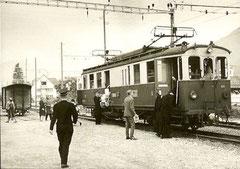 Bahnhof Stans mit Motorwagen Nr. 103