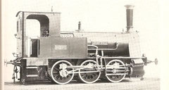 """Cn2-Tenderlokomotive """"Geiserich, gebaut 1882 von Esslingen"""
