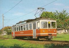 Triebwagen Be 4/4 101 am 30. 5. 1987 bei Schmitten