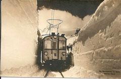 Die Berninabahn im Winter, Schnee-Kanal