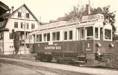 Dreichachs-Zahnradtriebwagen CFeh 2/3 3 in Altstätten 1939