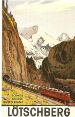 Plakat für die BLS von Plinio Colombi, 1937