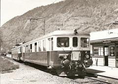 ABDe 2/8 701 bei der Haltestelle Lütschinenbrücke am 13. 5. 1969