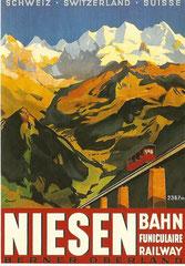 Plakat für Berhaus Niesenkulm von Otto Ernst, 1929