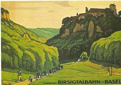 Plakat der Birsigtalbahn, 1911 von E. E. Schlatter
