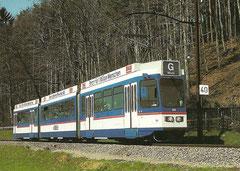 Elektrischer Triebwagen Be 4/8 84 am 2. 4. 1988 in Gümligen