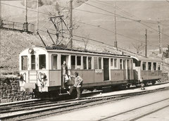BFZe 4/4 + B 406 in Avants im Frühling 1960
