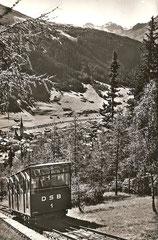 Davos Schatzalpbahn gegen Plattenhorn und Hochducan, ungelaufen