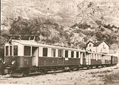 Werkaufnahme von 1911 mit BCe 2/4 3 + C 11/12 + 2 K Serie 21