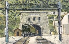 Lötschbergtunnel 14,612 km
