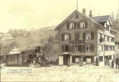 HG 2/4 auf der damaligen Zahnradstrecke Lustmühle - Niederteufen um 1905