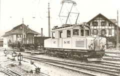 Worblentalbahn-Güterzuglok Ge 4/4 60, 1924 in Worb Dorf