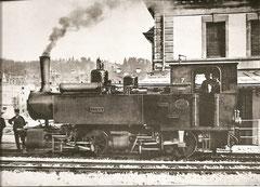 """Mallet-Dampflok SC G 2x2/2 Nr.7 """"Jura"""" in La Chaux-de-Fonds"""