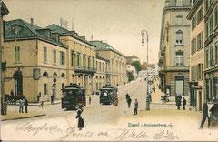 Basel - Steinenberg, gelaufen 25. 3. 1907
