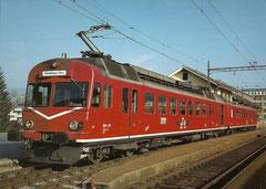 RBDe 4/4 225 in Biglen, 1983