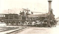 """A 2/4 Nr. 11 """"Friedrichshafen"""" von 1854 gebaut von Maffei München"""