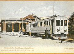 Depot Siblingen, Automobilwagen Nr. 4 + Güterwagen K 22 + L, 1905