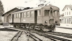 BDe 4/4 2' bei der alten Station Bremgarten-West am 12. 4. 1970