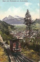 Ragaz von Wartenstein aus mit Drahtseilbahn, gelaufen 1. 11. 1913