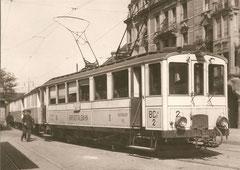 BCe 4/4 2 um 1928 in Basel Heuwaage