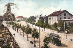 Basel, Steinenring, gelaufen 1. 9. 1909