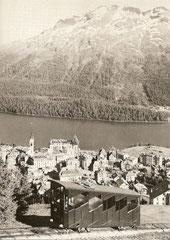 Wagen 1 oberhalb von St. Moritz, 1955