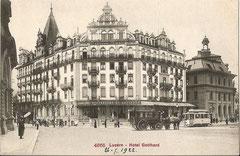 Hotel Gotthard, 26. 7. 1922