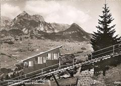 Drahtseilbahn mit Blick gegen Wildhaus + Schafberg, gelaufen 31. 10. 1947
